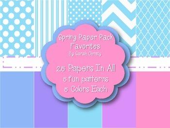 Spring Digital Paper Pack~Favorites{Commercial Use OK}