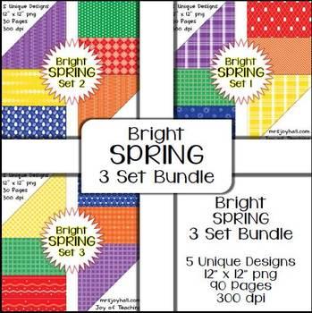 Spring Digital Papers - Brights BUNDLE