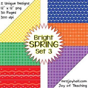 Spring Digital Papers - Brights Set 3