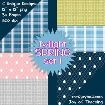 Spring Digital Papers - Twilight Set 1