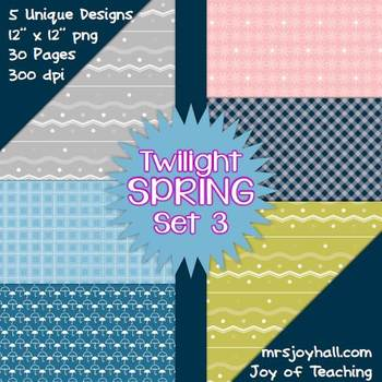 Spring Digital Papers - Twilight Set 3