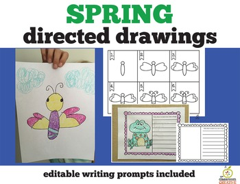 Spring Directed Drawings & Editable Writing Prompts