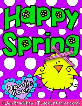 Spring & Doodle Coloring Book ~ Holiday Gift  ~ Color