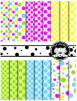 Spring Dots Background Paper  ~ Lots of Dots Small Medium Large