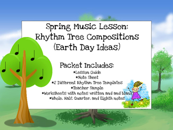 Spring - Earth Day Music Lesson: Rhythm Tree Compositions