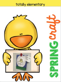 Spring Easter Craft Chick Cracking Egg Totally Elementary