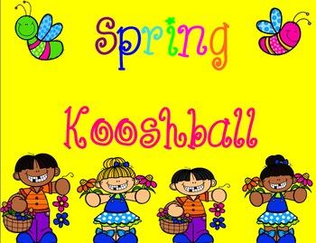 Spring/ Easter Kooshball game for SMARTboard