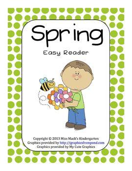 Spring Easy Reader - Kindergarten