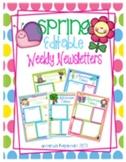 Spring Editable Weekly Newsletters