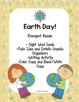 Earth Day! Spring Emergent Reader, With Main Idea and Writ