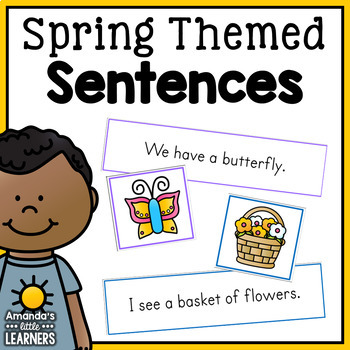 Spring Emergent Reader Sentence Matching Strips