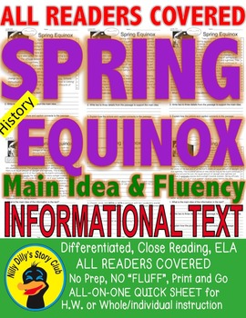 Spring, Equinox FACTS Close Read 5 Levels Differentiated p