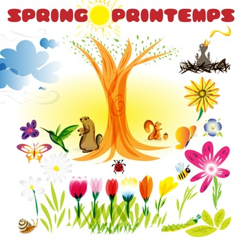 Spring Essential Clip Art. Printemps