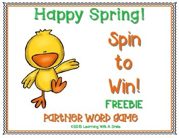 Spring FREEBIE ~ Spin to Win! Partner Game