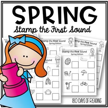 Spring FSF First Sound Fluency:  Stamp the First Sound
