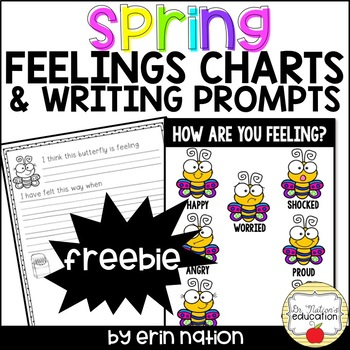 Spring Feelings Charts and Writing Prompts