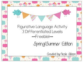 Spring Differentiated Figurative Language {Freebie!}