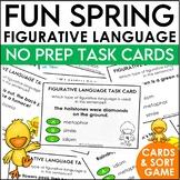 Spring Figurative Language Task Cards and Figurative or Li