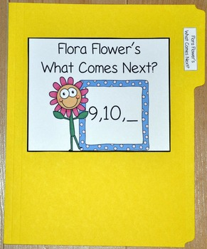 """Spring File Folder Game--""""Flora Flower's Which Number Comes Next?"""
