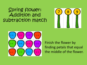 Spring Flower: Addition and Subtraction