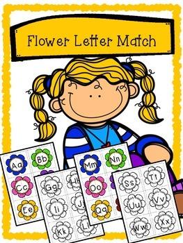 Spring Flower Alphabet Matching - Upper case and Lower cas