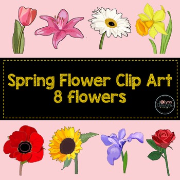 Spring Flower Clip Art Collection