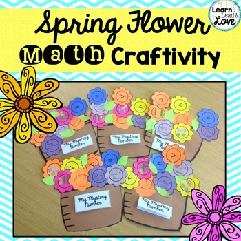*Spring Flower Math Craftivity--Number Sense & Operations