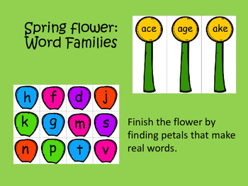 Spring Flower: Word Families