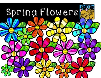 Spring Flowers Clip Art by Kid-E-Clips Commercial and Pers
