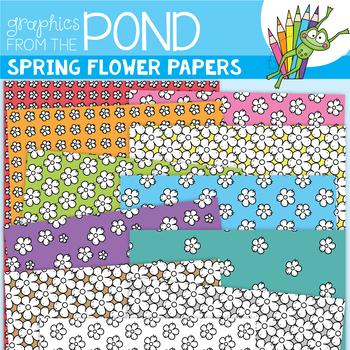 Spring Flowers Digi Paper Freebie