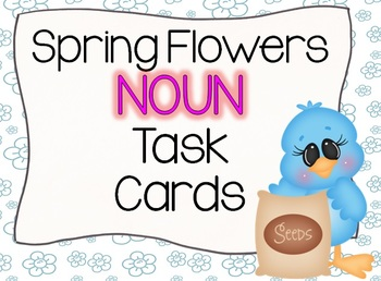 Spring Flowers Noun Task Cards