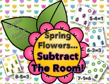Spring Flowers Subtract The Room!  18 Picture Cards, Recor