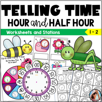 First Grade Telling Time to the Hour and Half Hour ~ Sprin
