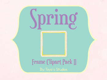 Spring Frame Clipart Pack II