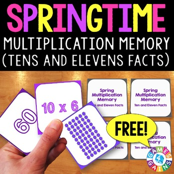 Spring FREE: A Spring Multiplication Facts Game
