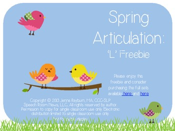Spring: Free 'L' Articulation Cards