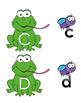 Spring Frog Letter Match Activity