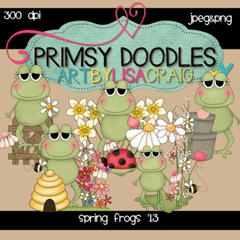 Spring Frogs 300 dpi clipart