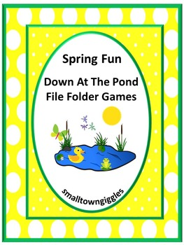 Spring Math and Literacy File Folder Games for Interactive
