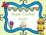 Spring Fun Math Centers {First Grade}