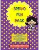 Spring Fun Pack K-2