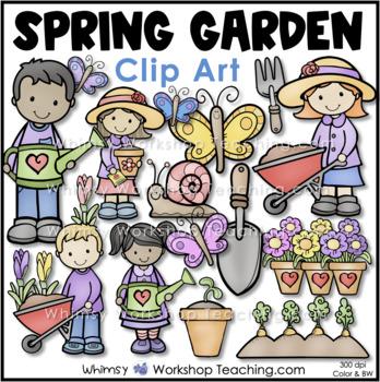Spring Garden Buddies Clip Art - Whimsy Workshop Teaching