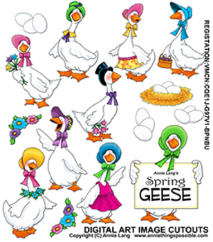 Spring Geese Clipart