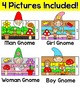 Spring Math Garden Gnomes Color by Code 3D Characters