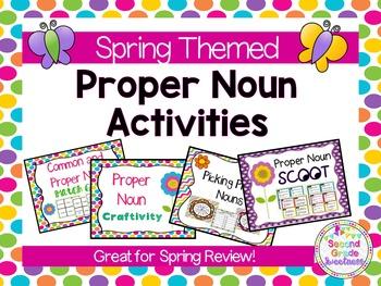 Spring Grammar Activities: Common and Proper Nouns