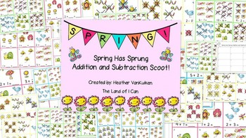 Spring Has Sprung Addition and Subtraction Scoot!