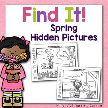 Spring Hidden Picture Worksheets