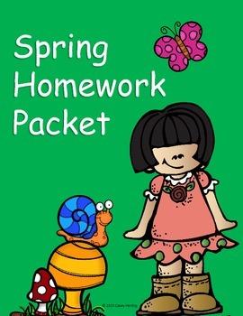 Spring Homework Packet (No Prep!)