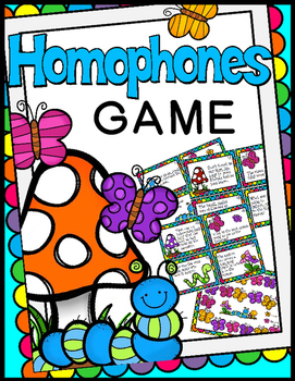 Homophones Game - 40 Task Cards!