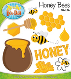 Spring Honey Bees Clipart — Over 10 Graphics!
